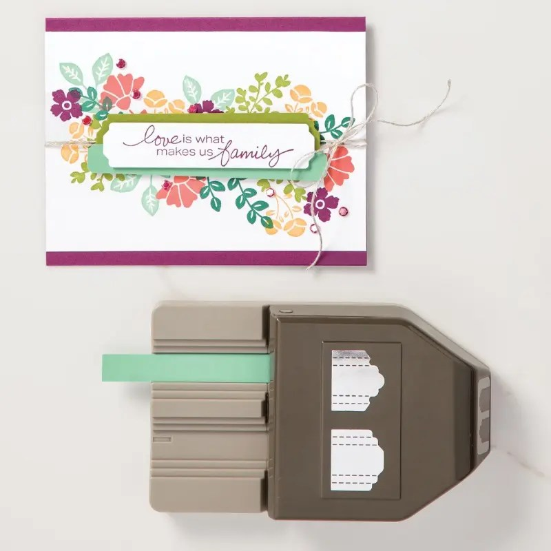 This photo features the Stampin' Up Lovely Labels Pick a Punch.