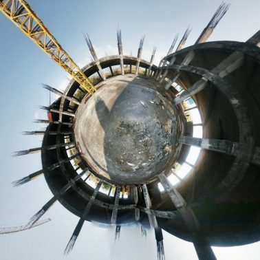 Tiny Planet - Construction Site