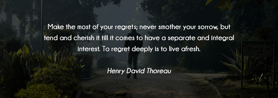 Regrets And The Beautiful Denial Of Not Having Them