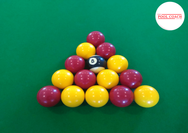 The correct way to set the balls up in pool