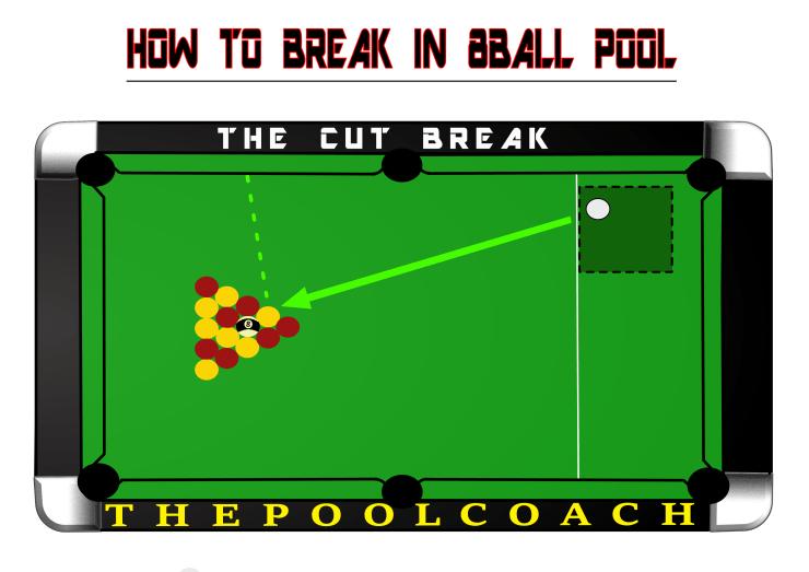 The best way to cut break in 8ball pool.