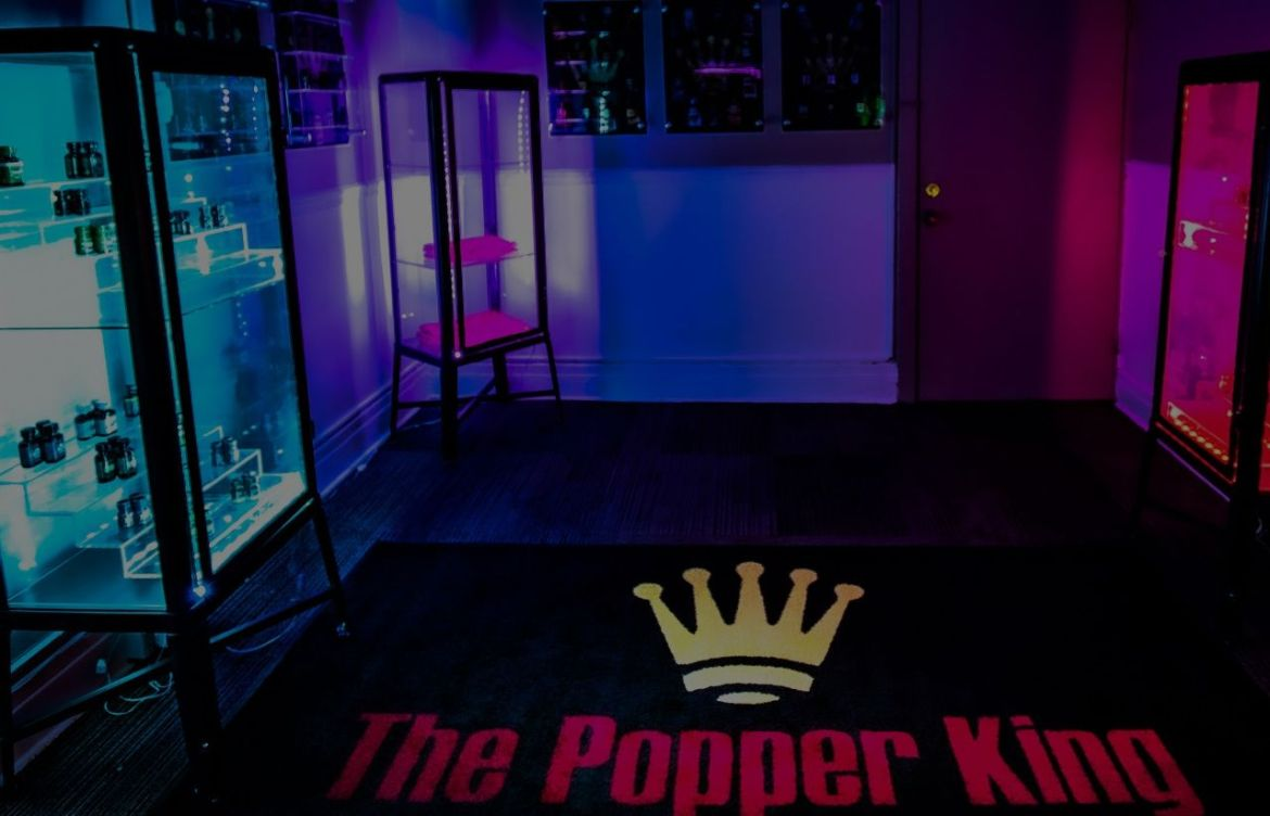 The Popper King - Supplier of Real ISO-BUTYL NITRITE POPPERS - 528 Elmwood Ave #3 Buffalo, NY 14222 - thepopperking.com - Banner 0106-shaded