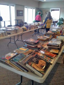 Thanks to our great volunteers who helped us unpack and sort books!