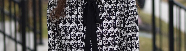 Skull Blouse- thepoppyskull.com