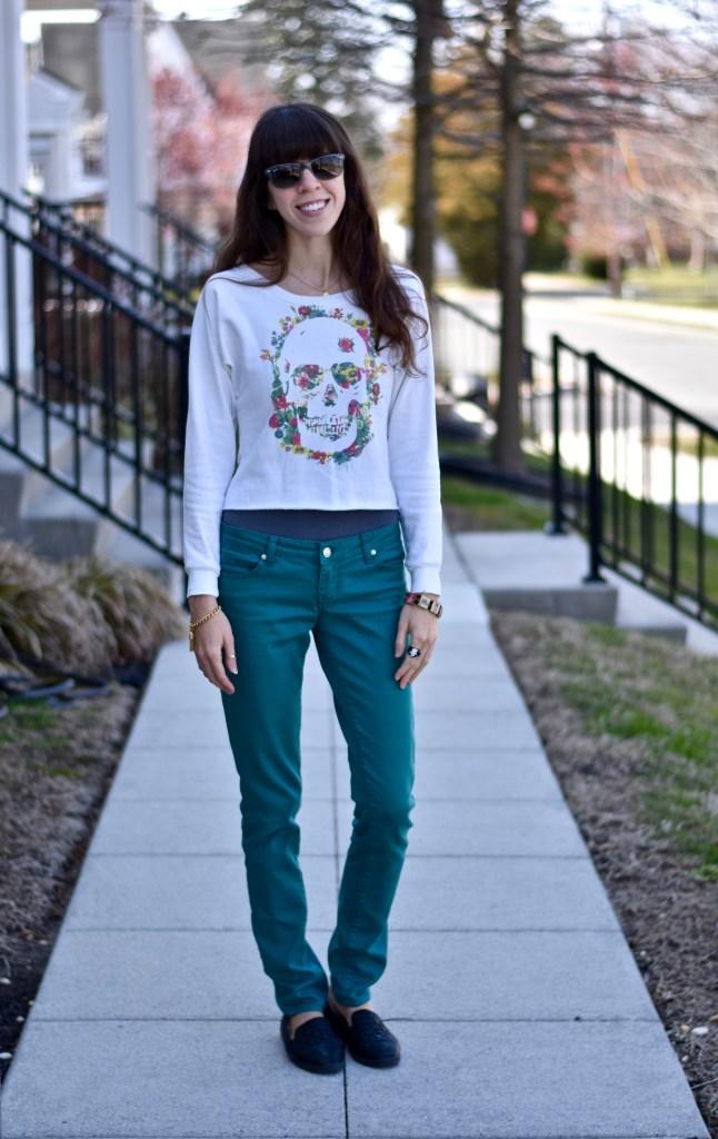 Spring Skull Sweater-thepoppyskull.com