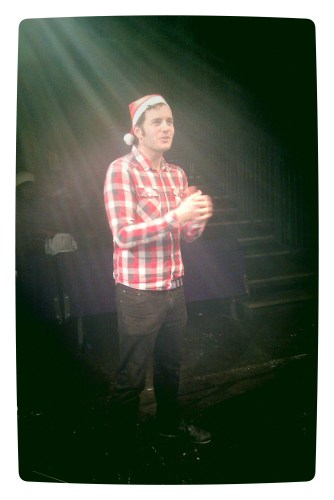 17 December: the angelic Dom Stichbury presiding over Christmas at the Ovalhouse!