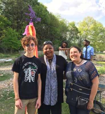 Tait Rosbottom (MJHS Garden Club president), Stephanie Johnson (principal of MJHS), and Gabriela Garcia (executive director of GPCP). Photos by Natalie Rosbottom.