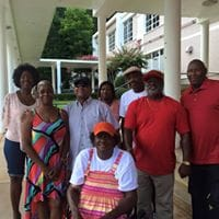Members of the Class of 1974 at East Atlanta High School met on the steps of the now closed school to plan for some of their alumni activities (like a cruise to the Bahamas). Photo by Class of 1974 East Atlanta High