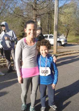 Participants in last year's Parkside Stride. Photos courtesy of Parkside Elementary School
