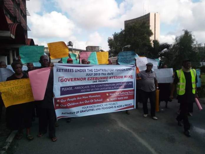 pensioners,rivers,protest,port harcourt