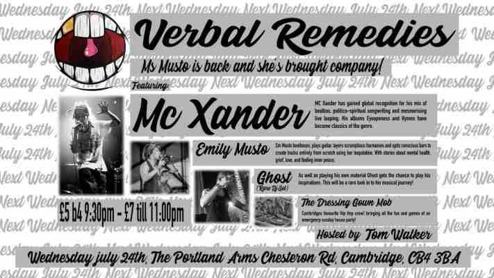 Verbal Remedies featuring Mc Xander, Emily Musto, Tom Walker (kings kin)