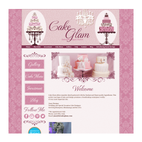 Cake Glam - Custom Web and Blog Design on Weebly Platform