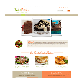 Deluxe Recipe Website Sample