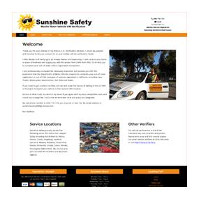Sunshine Safety - Custom Website Design on WordPress Platform