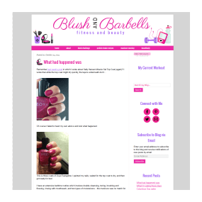 Blush and Barbells - Custom Basic WordPress Blog Design