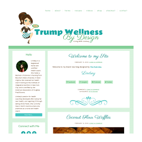 Trump Wellness by Design - WordPress Basic Recipe Blog Design with added Digital eCommerce