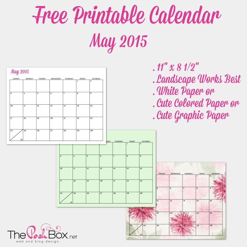 Free Printable May Calendar