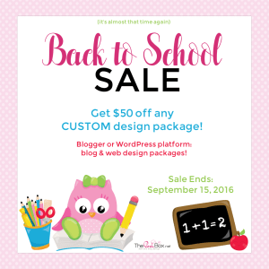 Back to School Sale 2016