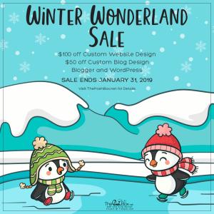 Winter Wonderland Holiday Sale January 2019