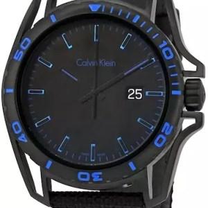 Calvin Klein Earth blue & black watch - The Posh Watch Shop