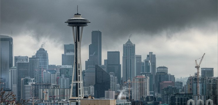 dark and gloomy seattle