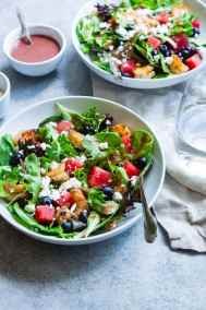 Delicious mixed Greek salad with olives and feta
