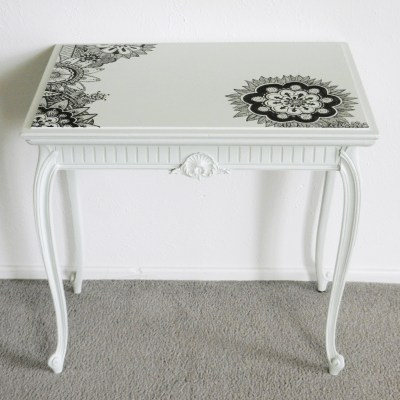 Creative Furniture Painting: Henna Tattoo Tabletop