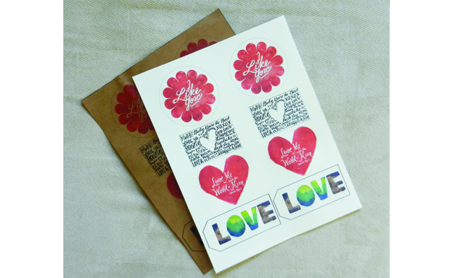 White Paper Valentines