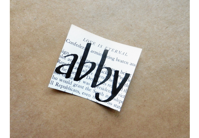DIY Vintage Book Page Place Cards (With a Note Inside!)   The Postman's Knock by Lindsey Bugbee