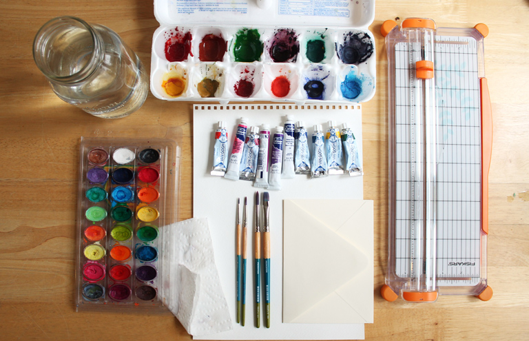 Supplies Required to Create Watercolor Flowers | The Postman's Knock