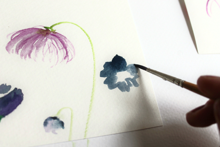 How to Create Watercolor Flowers | The Postman's Knock