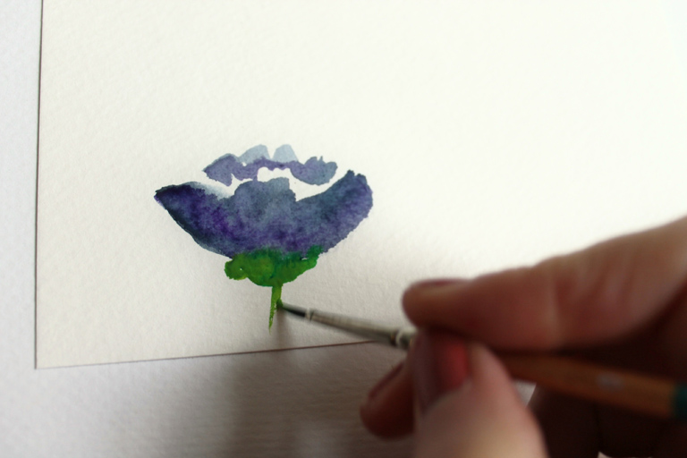 how to create watercolor flowers tutorial plus a gorgeous giveaway