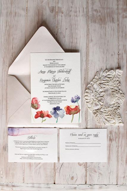 DIY Watercolor Wedding Invitations | Annika Likes