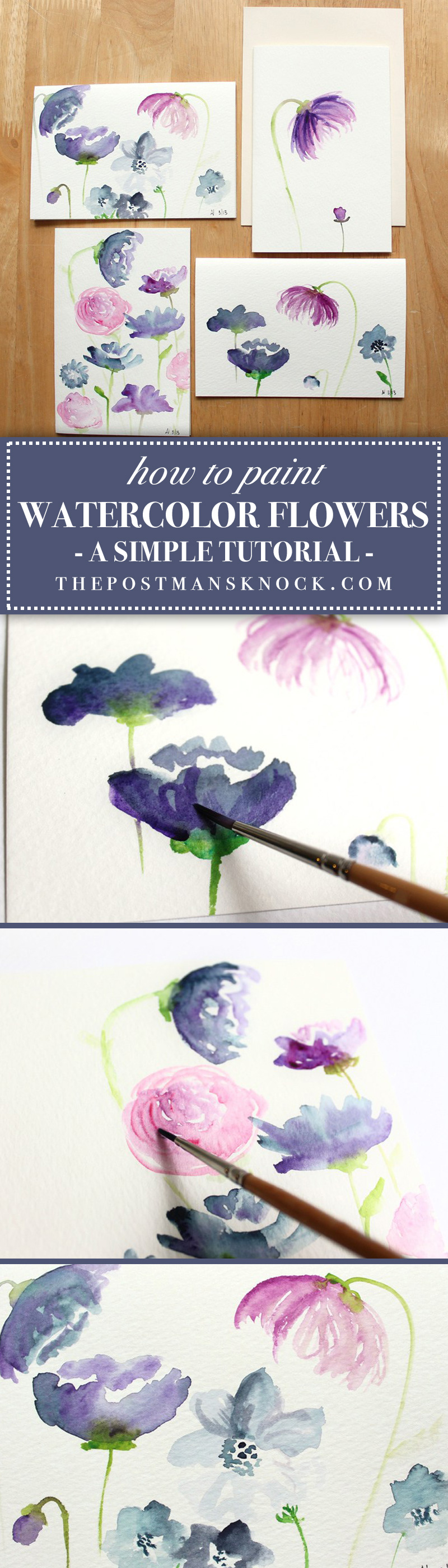How to Create Watercolor Flowers: a Tutorial | The Postman's Knock
