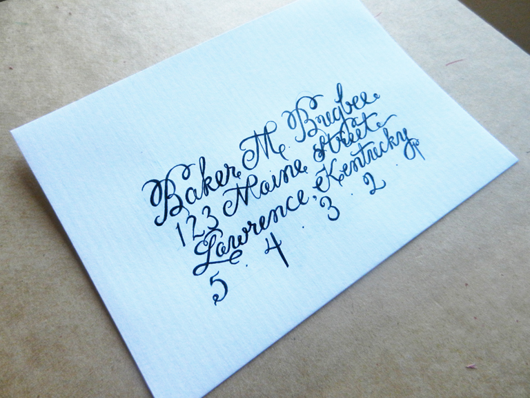 How to Create Envelope Calligraphy   The Postman's Knock