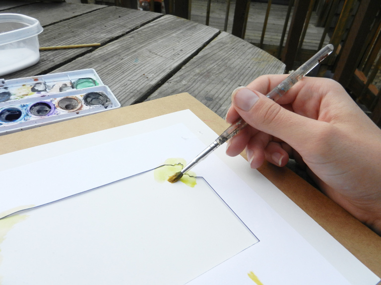 BlogState6State Art Watercolor Tutorial | The Postman's Knock