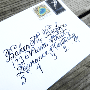 How to Create Envelope Calligraphy