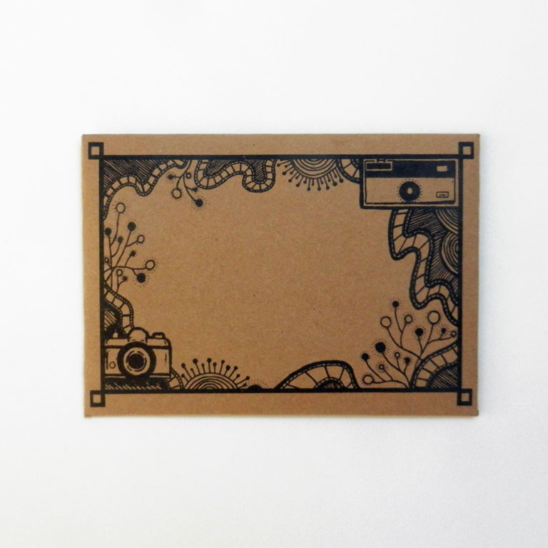 DIY Mail Art Envelope Template | The Postman's Knock