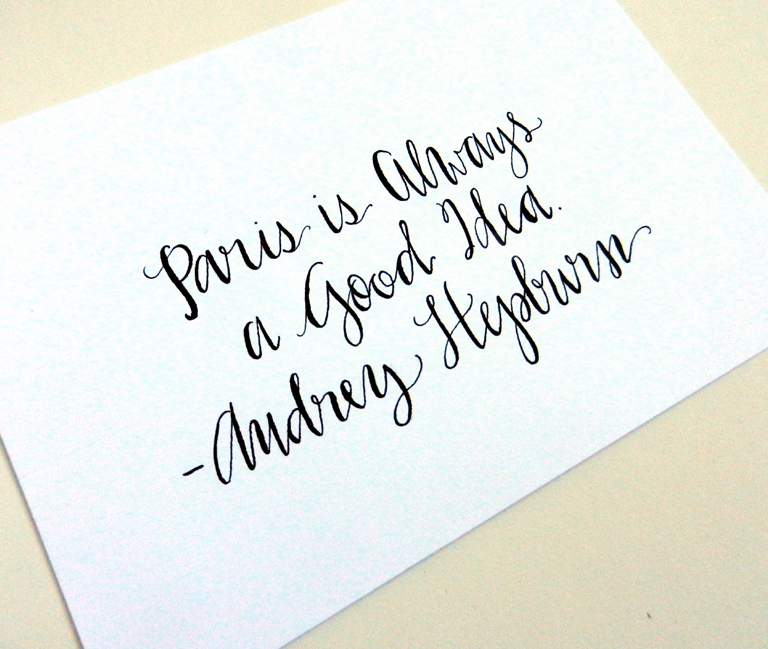 How To Use A Dip Pen To Create Modern Calligraphy