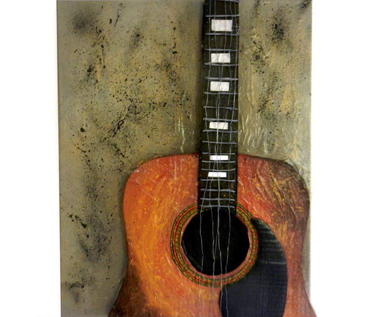 3D Acoustic Guitar Painting   The Postman's Knock