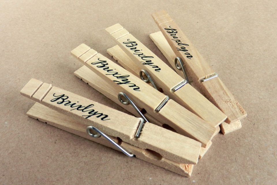 Clothesline Baby Shower Clothespins | The Postman's Knock