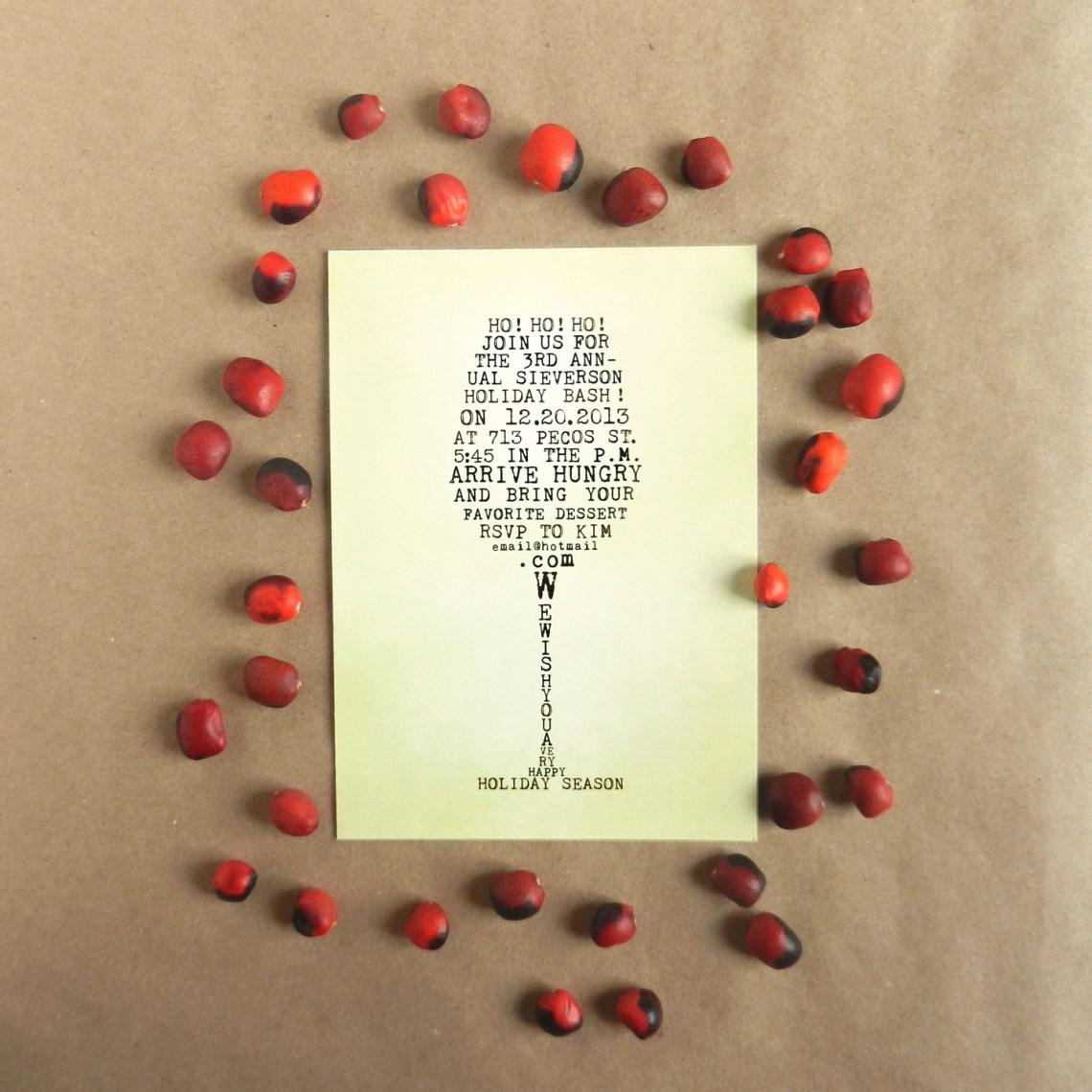 Wine Glass Holiday Invitation