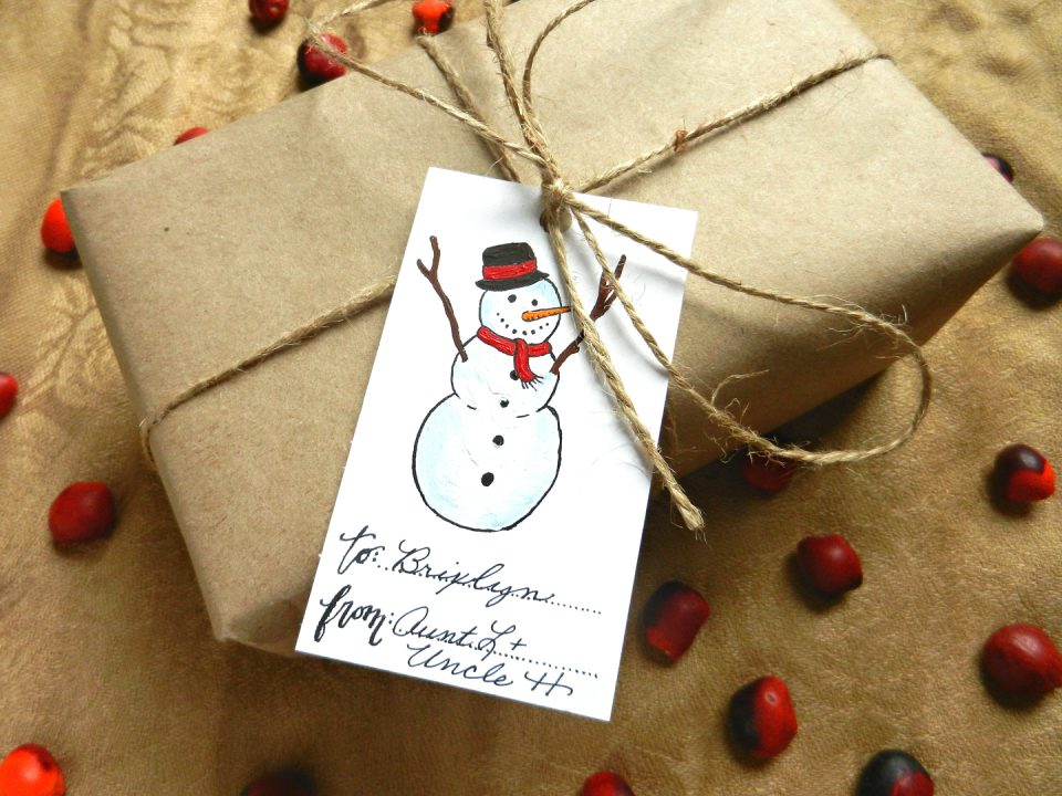 Snowman Gift Tag | The Postman's Knock