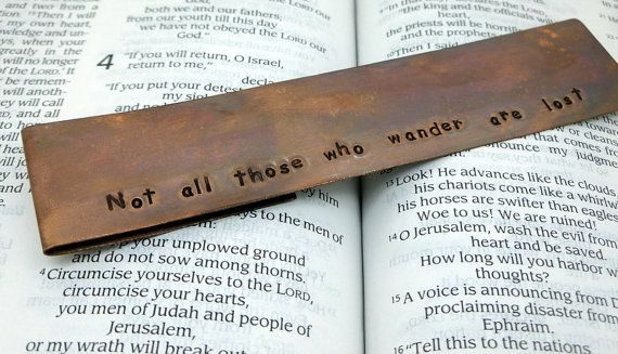 Stamped Copper Bookmark | Small Gift Idea - The Postman's Knock
