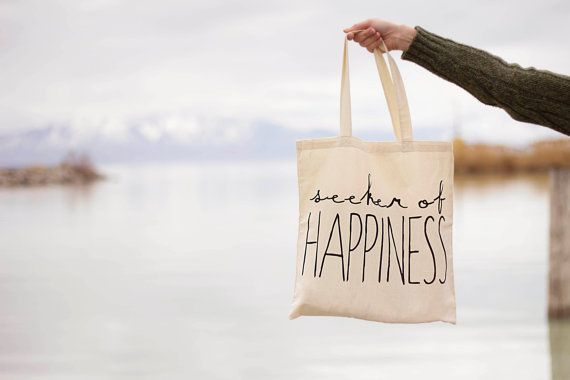 Seeker of Happiness Canvas Tote Bag | Small Gift Idea - The Postman's Knock