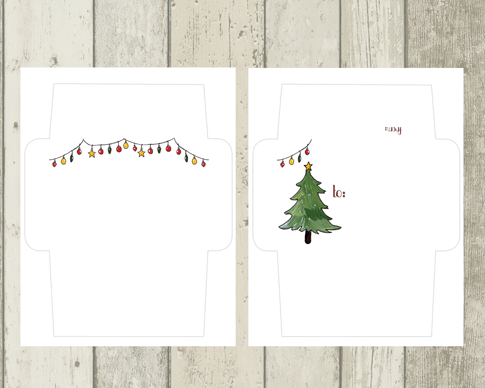 photo about Printable Christmas Envelopes known as Vacation Send Artwork Envelope Templates