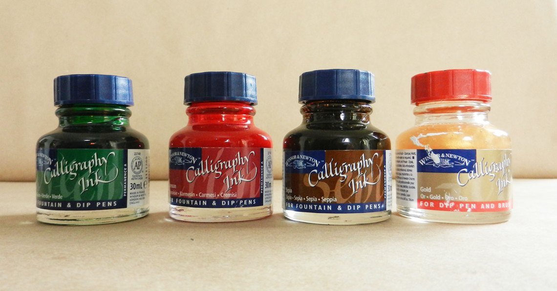 Using Color Calligraphy Ink | The Postman's Knock