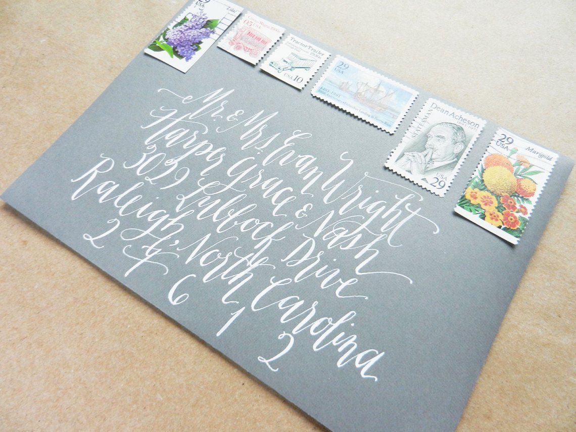 Stamp Collages on Envelopes | The Postman's Knock