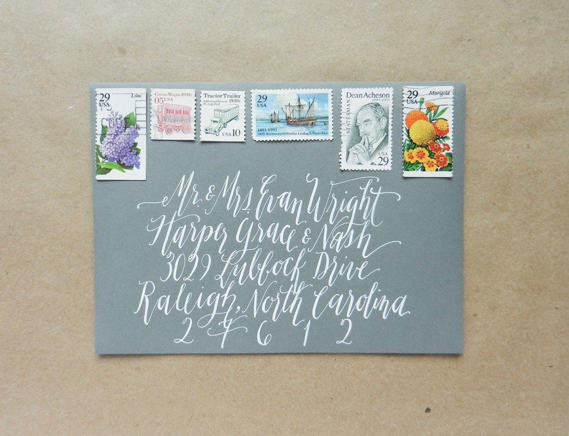 White Calligraphy | The Postman's Knock