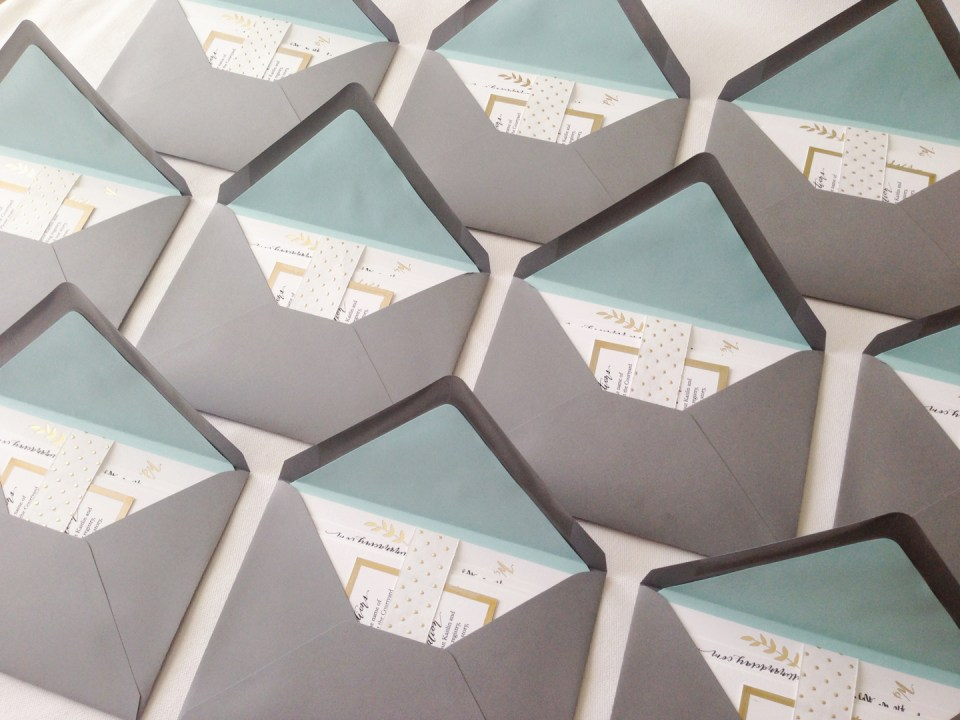 Gold Foil Wedding Invitation Suite | The Postman's Knock